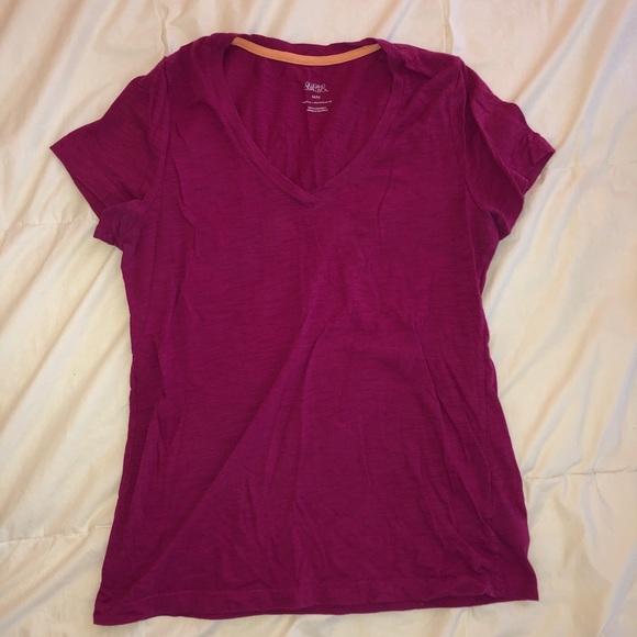 Gilligan & O'Malley Tops - Pink v-neck t-shirt